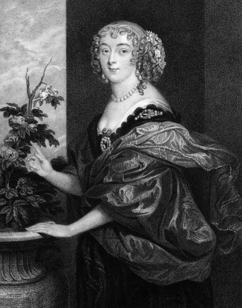 spencer: Dorothy Spencer, Countess of Sunderland (1617-1684) on engraving from 1829. Engraved by T.Wright and published in Portraits of Illustrious Personages of Great Britain,UK,1829. Editorial