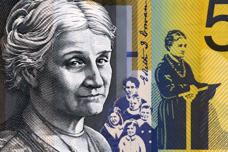 elected: Edith Cowan (1861-1932) on 50 Dollars 2009 from Australia. Australian politician, social campaigner and the first woman elected to Australian parliament.