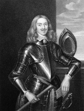illustrious: Edward Somerset, 2nd Marquess of Worcester (1601-1667) on engraving from 1827. English nobleman involved in royalist politics and inventor. Engraved by E.Scriven and published in Portraits of Illustrious Personages of Great Britain,UK,1827. Editorial