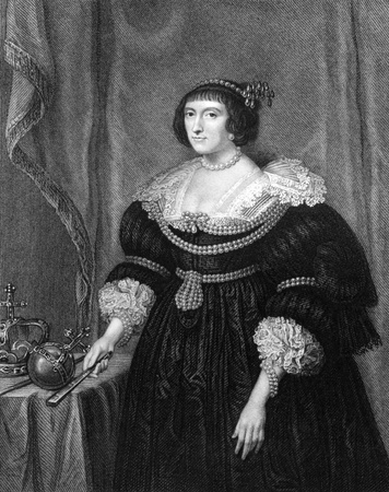 Elizabeth Stuart, Queen of Bohemia (1596-1662) on engraving from 1831. Electress Palatine and briefly Queen of Bohemia. Engraved by H.T.Ryall and published in Portraits of Illustrious Personages of Great Britain,UK,1831.