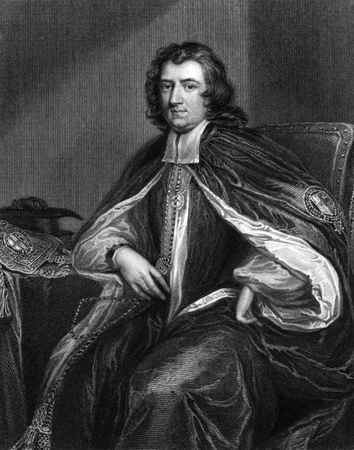 theologian: Gilbert Burnet (1643-1715) on engraving from 1830. Scottish historian, theologian and Bishop of Salisbury. Engraved by H.Robinson and published in Portraits of Illustrious Personages of Great Britain,UK,1830.