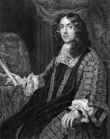 Heneage Finch, 1st Earl of Nottingham (1621-1682) on engraving from 1830. Engraved by S.Freeman and published in Portraits of Illustrious Personages of Great Britain,UK,1830.