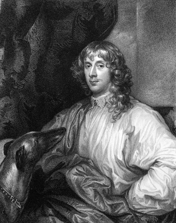 illustrious: James Stewart, 1st Duke of Richmond (1612-1655) on engraving from 1827. Scottish nobleman. Engraved by J.Pofselwhite and published in Portraits of Illustrious Personages of Great Britain,UK,1827.