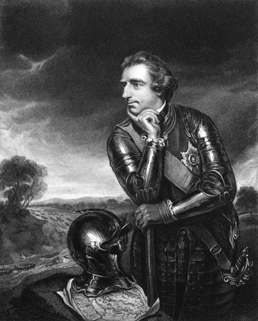 baron: Jeffery Amherst, 1st Baron Amherst (1717-1797) on engraving from 1834. Served as an officer in the British Army. Engraved by H.T.Ryall and published in Portraits of Illustrious Personages of Great Britain,UK,1834. Editorial