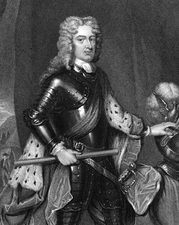 statesman: John Churchill, 1st Duke of Marlborough (1650-1722) on engraving from 1830. Prominent English soldier and statesman. Engraved by R.Cooper and published in Portraits of Illustrious Personages of Great Britain,UK,1830.