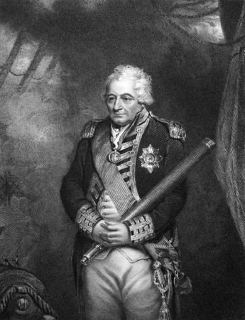 illustrious: John Jervis, 1st Earl of St Vincent (1735-1823) on engraving from 1834.  Admiral in the Royal Navy and Member of Parliament in the United Kingdom. Engraved by H.Robinson and published in Portraits of Illustrious Personages of Great Britain,UK,1834. Editorial