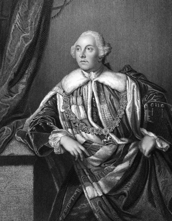 statesman: John Russell, 4th Duke of Bedford (1710-1771) on engraving from 1832. British statesman. Engraved by H.Robinson and published in Portraits of Illustrious Personages of Great Britain,UK,1832. Editorial