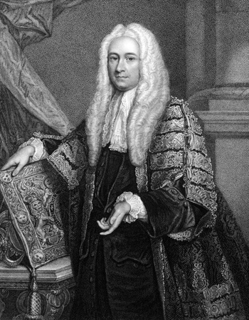 yorke: Philip Yorke, 1st Earl of Hardwicke (1690-1764) on engraving from 1832. English lawyer and politician. Engraved by W.T.Fry and published in Portraits of Illustrious Personages of Great Britain,UK,1832.