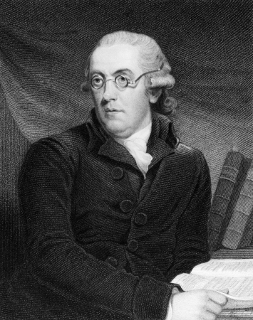 clergyman: Robert Nares (1753-1829) on engraving from 1835. English clergyman, philologist and author. Engraved by S.Freeman after J.Hoppner and published in National Portrait Gallery,UK,1835. Editorial