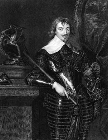 earl: Robert Rich, 2nd Earl of Warwick (1587-1658) on engraving from 1827. English colonial administrator, admiral, and puritan. Engraved by H.Robinson and published in Portraits of Illustrious Personages of Great Britain,UK,1827.