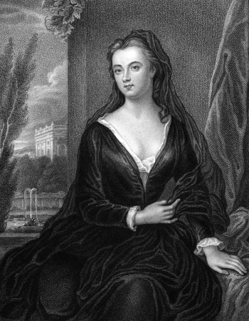influential: Sarah Churchill, Duchess of Marlborough (1660-1744) on engraving from 1830. One of the most influential women of her time through her close friendship with Queen Anne. Engraved by S.Freeman and published in Portraits of Illustrious Personages of Great B