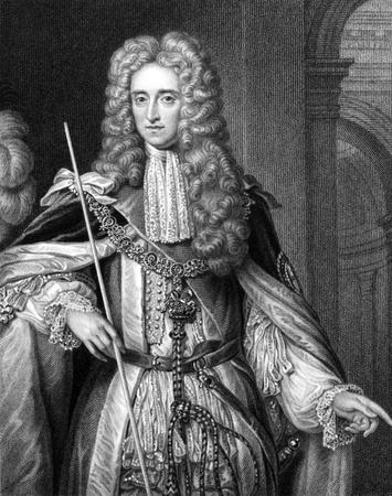 statesman: Thomas Osborne, primo duca di Leeds (1632-1712) su incisione dal 1830. Statista inglese. Incisione di S.Freeman e pubblicato in Ritratti'' di personaggi illustri della Gran Bretagna'', Regno Unito, 1830. Editoriali