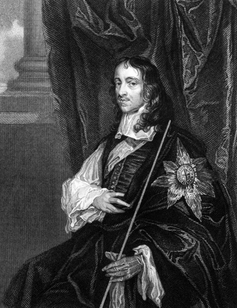 statesman: Thomas Wriothesley, 4th Earl of Southampton (1607-1667) on engraving from 1827. English statesman. Engraved by T.Wright and published in Portraits of Illustrious Personages of Great Britain,UK,1827.