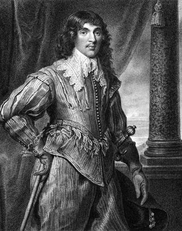 nobleman: William Hamilton, 2nd Duke of Hamilton (1616-1651) on engraving from 1827. Scottish nobleman. Engraved by W.Freeman and published in Portraits of Illustrious Personages of Great Britain,UK,1827. Editorial