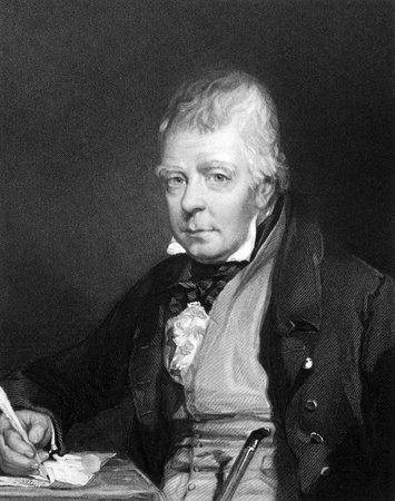scott: Walter Scott (1771-1832) on engraving from 1834. Scottish historical novelist, playwright and poet. Engraved by H.T.Ryall and published in Portraits of Illustrious Personages of Great Britain,UK,1834.