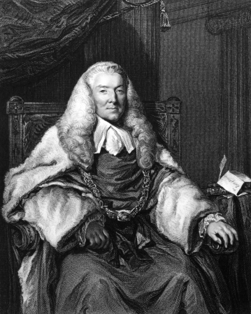 William Murray, 1st Earl of Mansfield (1705-1793) on engraving from 1832. British barrister, politician and judge noted for his reform of English law. Engraved by H.T.Ryall and published in Portraits of Illustrious Personages of Great Britain,UK,1832.