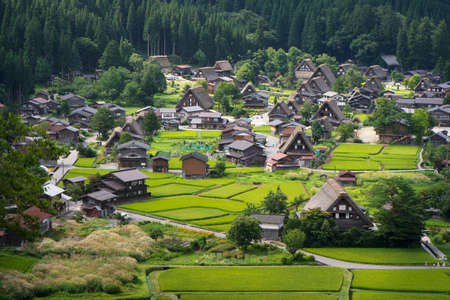 shirakawago: Historical Japanese Village - Shirakawago Stock Photo