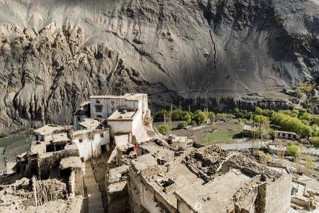 lamaism: Panoramic view of Lamayuru monastery in Ladakh, India. Lamayuru is height of 3,510 metres.