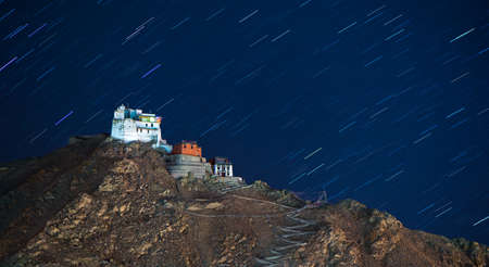 gompa: Namgyal Tsemo Gompa (Monastery) - Leh, Ladakh, Jammu and Kashmir, India Stock Photo