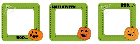 Scrapbook halloween frame