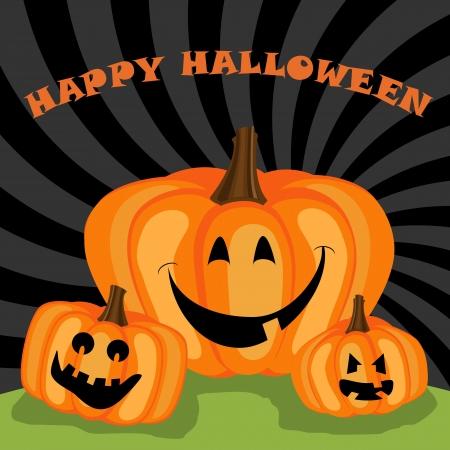 Happy halloween greeting Illustration
