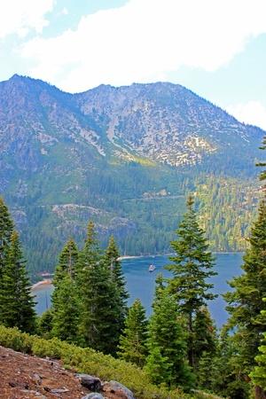 south lake tahoe: Emerald Bay of Lake Tahoe Stock Photo
