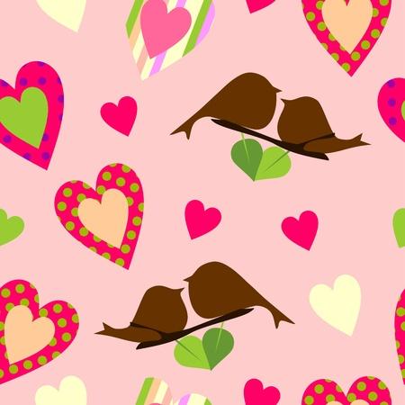 Heart endless pattern Illustration