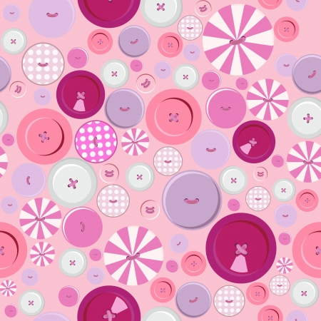 Buttons endless pattern Illustration