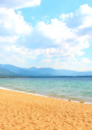 Lake Tahoe beach photo
