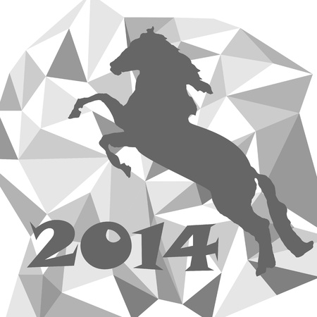 2014 - the year of horse Vector