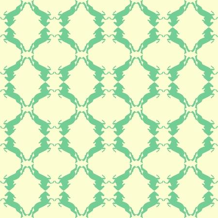 Horse endless pattern Illustration
