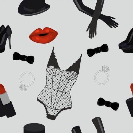 Cabaret endless pattern Illustration