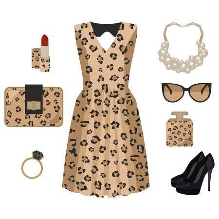 Leopard fashion look