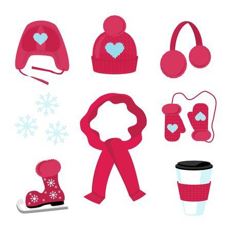 Winter accessories Illustration