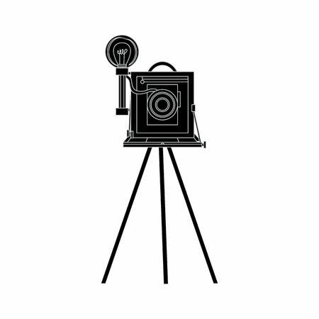 Retro photo camera, vector