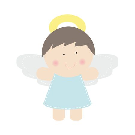 Small cute angel, vector Stock Vector - 23211556
