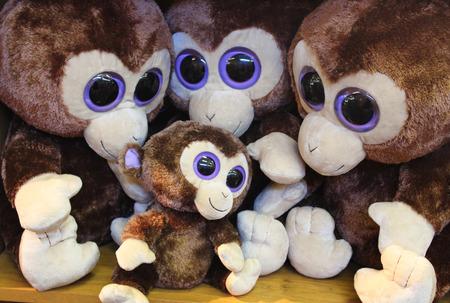 Monkey toy Stock Photo
