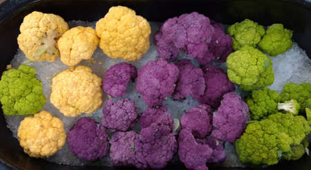 Colorful Cauliflower Stock fotó