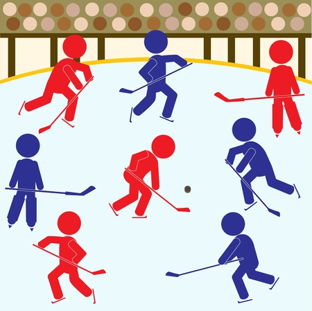 Hockey Teams Icon Vector