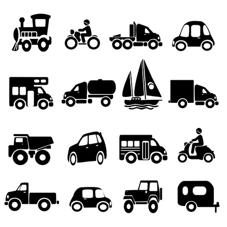 motor transport: Transportation Icons