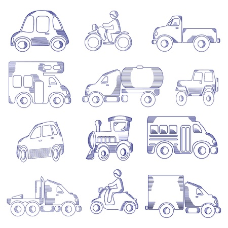 Doodle sketched transportation Stock Vector - 11830578