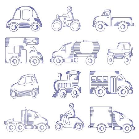 Doodle sketched transportation Stock Vector - 11830578