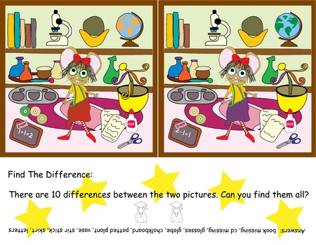 Find the Difference Game     Illustration