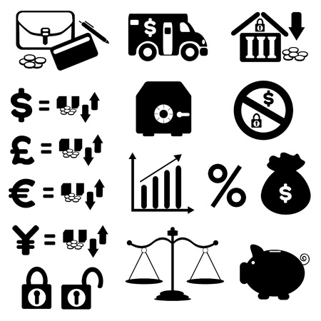 Finances Icons Set   vector eps10 Ilustracja
