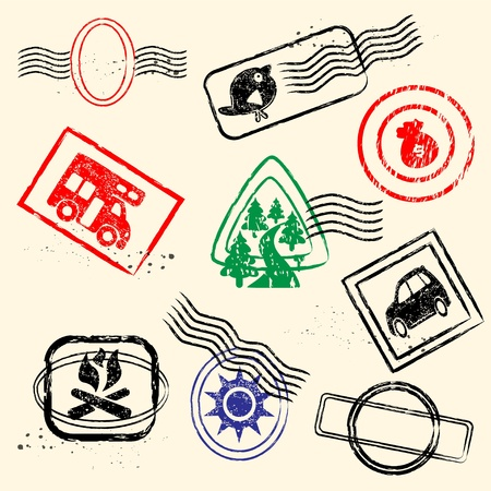 Rubber Stamps Collection Set Stock Vector - 12481086