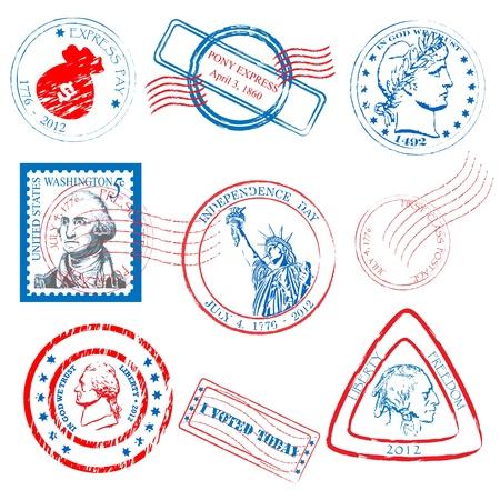 역사 우표 컬렉션 집합