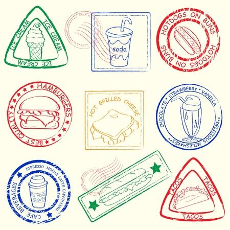 Fast Food Stamps Set