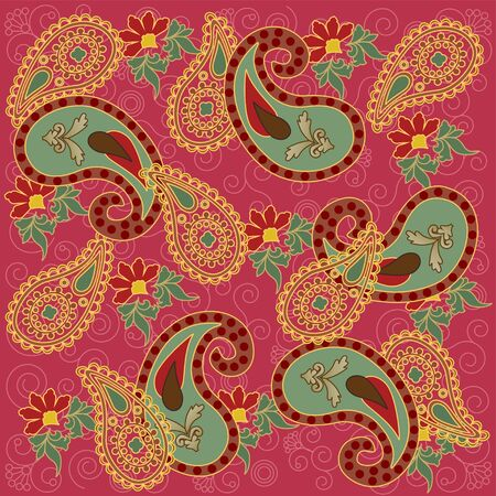 Pink Paisley Design Vector