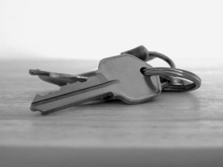 Old Keys in Black and White