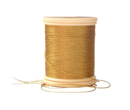 Golden Sweing Thread  Stock Photo